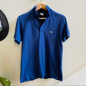 LACOSTE men's navy polo shirt 4 Small